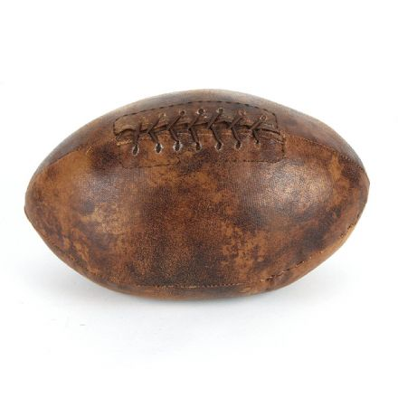 Rugby Ball Brown Leather Look Sports Doorstop
